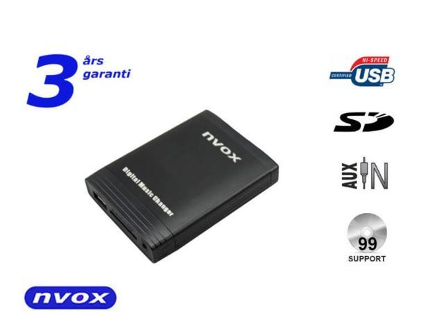 nvox bilstereo adapter USB AUX interface mp3 Volvo HU